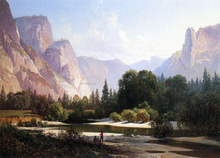 Piute Indians in Yosemite Valley - Thomas Hill