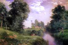 A Long Island River - Thomas Moran