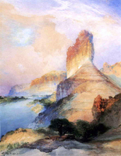 Castle Butte, Green River, Wyoming - Thomas Moran