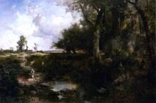 Crossing the Brook Near Plainfield, New Jersey - Thomas Moran