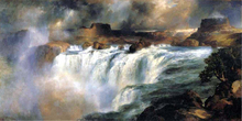 Shoshone Falls on the Snake River - Thomas Moran