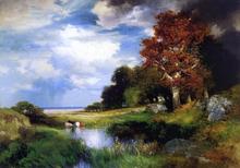View of East Hampton - Thomas Moran