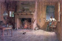 The Club House Sitting Room at Balsam Lake, Catskills - Thomas Worthington Whittredge