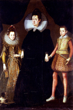 Portrait Of A Mother And Her Two Children