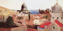 View of the Dead Sea from the Temple Square in Jerusalem - Tivadar Kosztka Csontvary