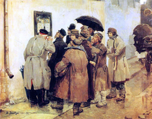 News from the Front - Victor Mikhail Vasnetsov