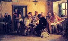 Tea-Drinking in a Tavern - Victor Mikhail Vasnetsov