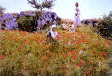 Picking Poppies, Sora - Viggo Frederick Pedersen