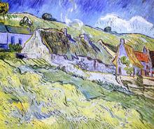 A Group of Cottages - Vincent Van Gogh