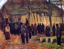 A Wood Auction - Vincent Van Gogh