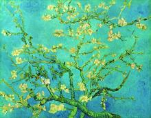 Branches with Almond Blossom - Blue