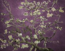 Branches with Almond Blossom - Purple
