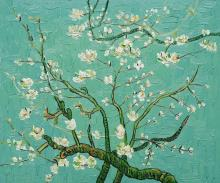 Branches with Almond Blossom - Turquoise
