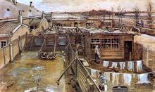 Carpenter's Workshop, Seen from the Artist's Studio - Vincent Van Gogh