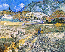 Enclosed Field with Peasant (also known as Landscape at Saint-Remy)