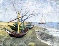 A Fishing Boat on the Beach at Les Saintes-Maries-de-la-Mer