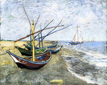 A Fishing Boat on the Beach at Les Saintes-Maries-de-la-Mer