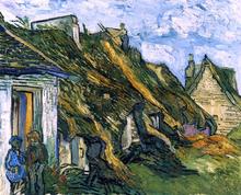 Old Cottages, Chaponval - Vincent Van Gogh