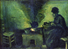 Peasant Woman by the Fireplace - Vincent Van Gogh