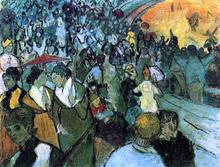 Spectators in the Arena at Arles - Vincent Van Gogh