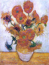 A Still Life: Vase with Fourteen Sunflowers