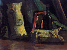 Still Life with Two Sacks and a Bottle - Vincent Van Gogh