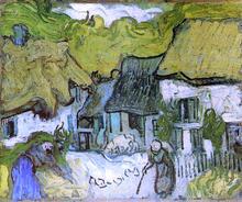 Thatched Cottages in Jorgus - Vincent Van Gogh