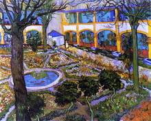 The Courtyard of the Hospital at Arles - Vincent Van Gogh