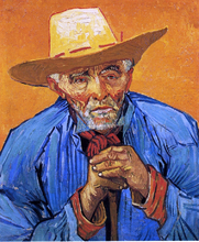A Peasant, Portrait of Patience Escalier - Vincent Van Gogh