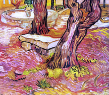 The Stone Bench in the Garden at Saint-Paul Hospital - Vincent Van Gogh