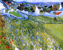 Vineyards with a View of Auvers - Vincent Van Gogh