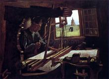 Weaver near an Open Window - Vincent Van Gogh