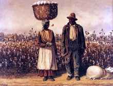 Negro Man and Woman with Cotton Field