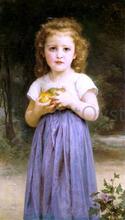 A Little Girl Holding Apples