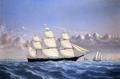 Clipper Ship 'Golden West' of Boston, Outward Bound