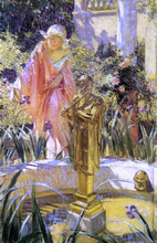 Stepping in the Fountain - William De Leftwich Dodge