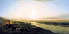 A Herd of Bison Crossing the Missouri River - William Jacob Hayes