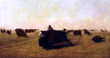 Buffalo Hunt - William Jacob Hayes