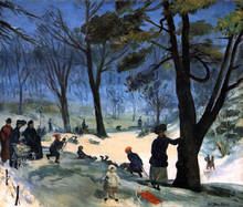 Central Park in Winter - William James Glackens