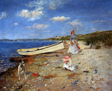 A Sunny Day at Shinnecock Bay - William Merritt Chase