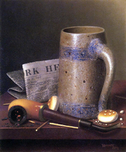Still Life with Mug, Pipe and New York Herald