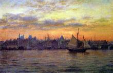 Boston Harbor at Sunset - William Partridge Burpee