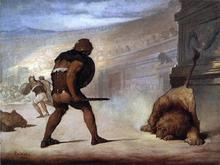 Lion in the Arena - William Rimmer