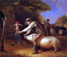 Ringing the Pig (also known as Scene in a Long Island Farm-Yard) - William Sidney Mount