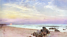 Beach with Rising Sun, New Jersey - William Trost Richards