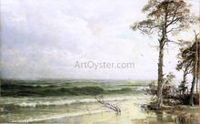 Cedars on the Shore Near Atlantic City - William Trost Richards
