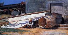 Boy in a Boatyard (also known as Boy with Barrels)