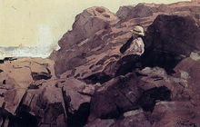 Boy on the Rocks