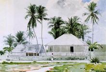 Cabins, Nassau - Winslow Homer