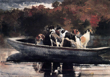 Dogs in a Boat (also known as Waiting for the Start)